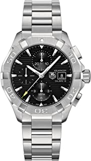 CAY2110.BA0925 Watch Tag Heuer Men's Aquaracer Stainless steel case, Stainless steel bracelet, Black dial, Automatic movement, Scratch resistant sapphire, Water resistant up to 30 ATM - 300 meters - 1000 feet