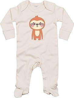 Kleckerliese Baby Schlafanzug Strampler Schlafstrampler Sprüche Jungen Mädchen Motiv Tiere Faultier