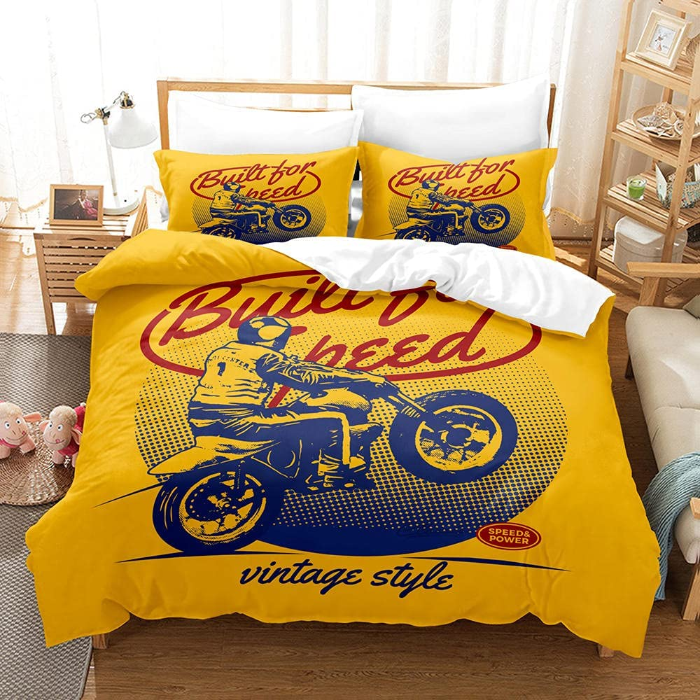 3D Duvet Cover Harley Motors Quilt Printed New Shipping Free with Zipp Direct store