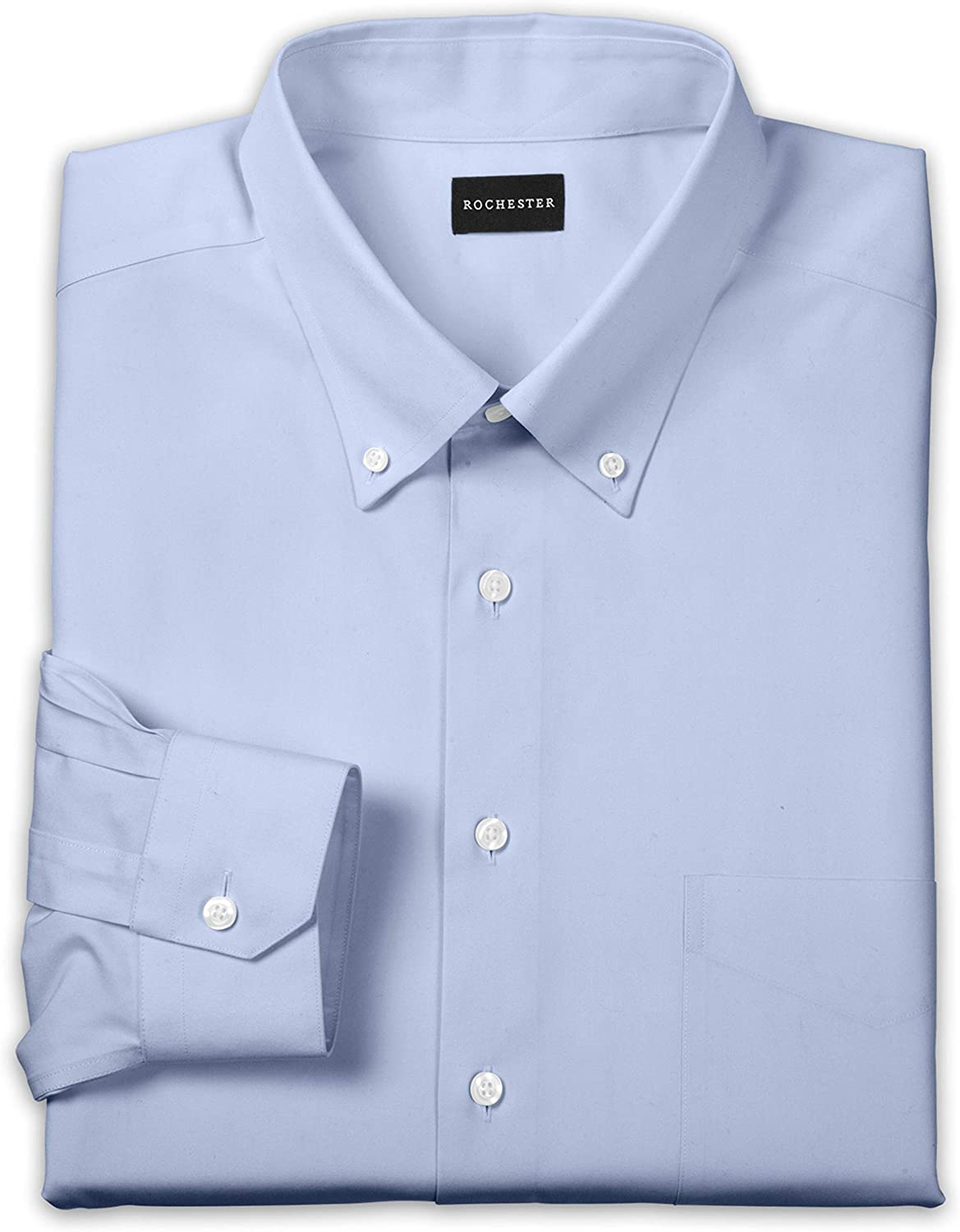 Rochester by DXL Big and Tall Oxford Pinpoint Dress Shirt