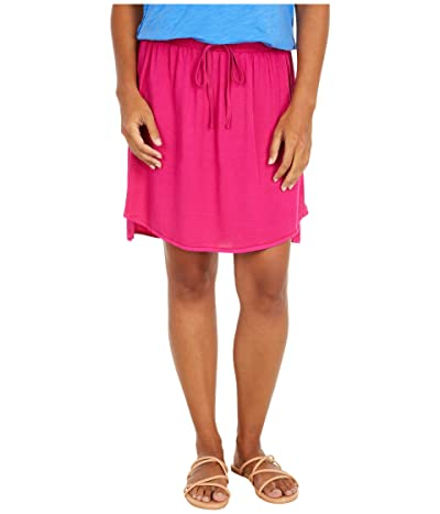 Mod-o-doc Lighter Weight Tencel Twill Side Button Short Skirt (Magenta) Women
