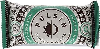 Pulsin Barrita Proteica de Anacardo, Proteínas Vegetales, Chips de Chocolate y Refrescante Menta - 18 Barras