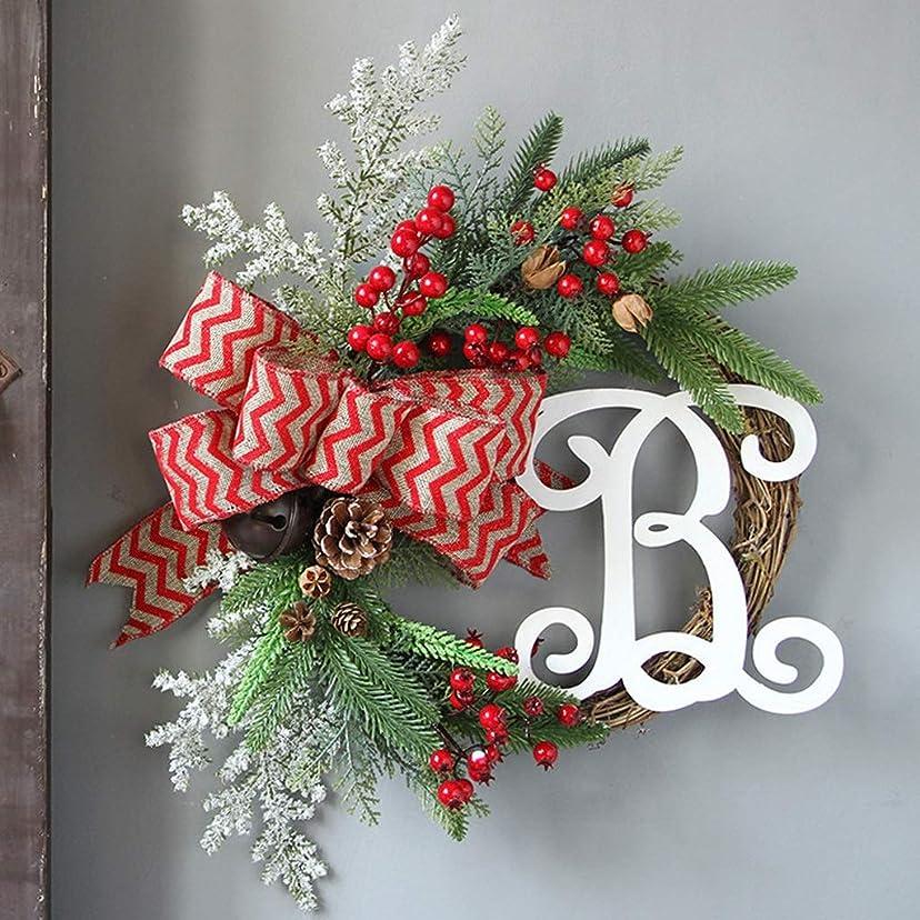 飛び込む入射同情的HN クリスマスリース、クリスマスの装飾、ドア装飾、人工花輪、クリスマスツリーの装飾、オプションの6ハンギング (Color : D)