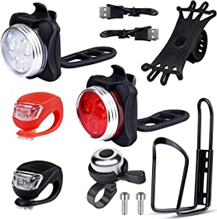 EAONE Bicycle Accessories with USB Rechargeable Bike...