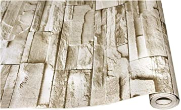 ورق حائط من الفينيل الصناعي ذاتي اللصق 3D خلفية لغرفة النوم غرفة المعيشة والجدران المنزلية (اللون: نمط الطوب، الأبعاد: 3 م...