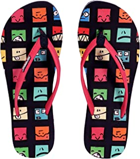 SOLETHREADS Smiley | Cute | Fun | Light | Colourful | Printed | Flip Flops for Women