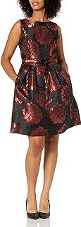 فستان Jessica Howard للنساء بحزام صغير مع تنورة مطوية