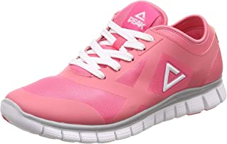 PEAK Pink Synthetic Women's Peach Running Shoes - 6 UK