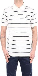 GANT Men's Breton Stripe Pique Ss Rugger Polo Shirt