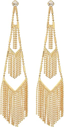 GUESS - Dainty Shotbead Chain Chandelier Earrings