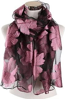 Women Foulard Femme Embroidered Floral Lace Scarfs Cut Flower Wrap and Shawl Muslim Hijab