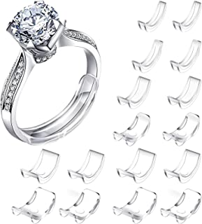 JOUAUS [16 Packs] Ring Size Adjuster Invisible Ring Size Adjuster for Loose Rings Ring Adjuster Size Fit Any Rings Ring Gu...
