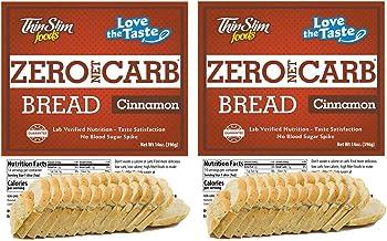 ThinSlim Foods Keto Low Carb Bread - Cinnamon Bread, 2 Pack (14 Slices Each)