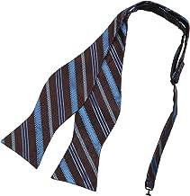 Dan Smith Men's Fashion Multi Colored Stripes Microfiber Self-tied Bow Tie With Free Gift Box