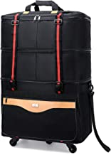 Carry-on Expandable Lightweight Luggage Rolling Duffel Bag with Wheels Travelling Foldable Suitcase
