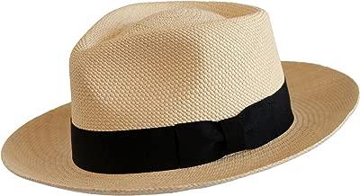 Levine Hat Co. Genuine Panama Bogart Fedora Straw Dress Hat (3+ Colors)
