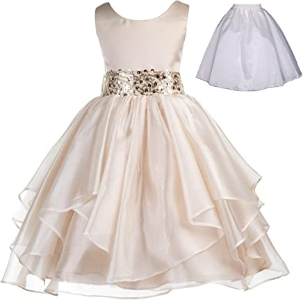 a3682833f62a ekidsbridal Wedding Ruffles Organza Flower Girl Dress Sequin Toddler  Pageant Free Petticoat 012s