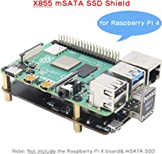 Geekworm Raspberry Pi 4 mSATA Storage, Raspberry Pi 4 Model B mSATA SSD Expansion Board X855 USB3.0 Shield Compatible with Raspberry Pi 4B Only