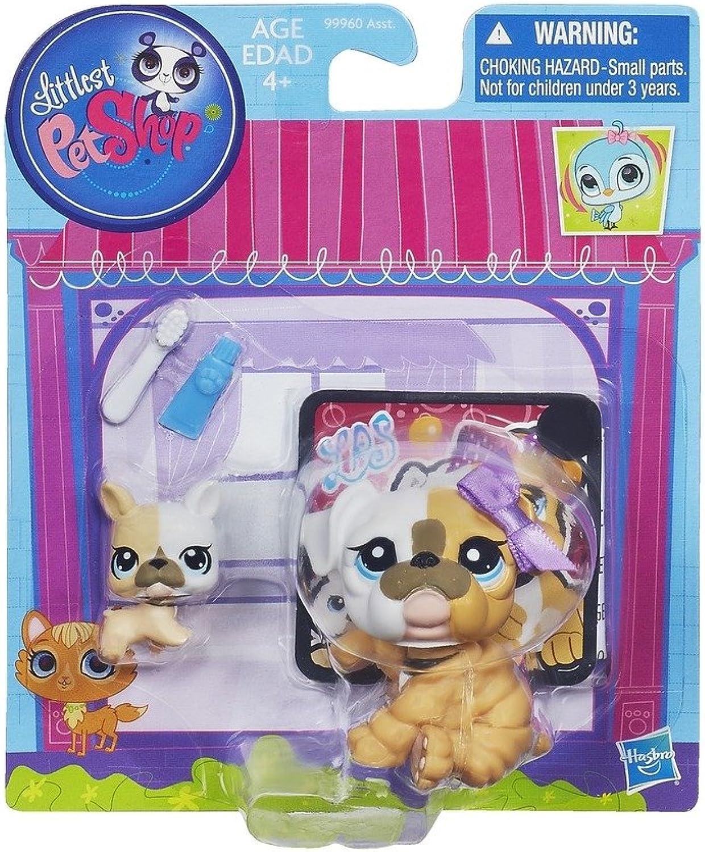 Bulldog and Baby Littlest Pet Shop Figures