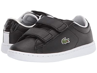 Lacoste Kids Carnaby Evo Strap 120 1 SUC (Little Kid) (Black/White) Kid