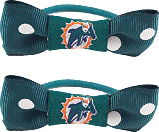 NFL Miami Dolphins Bow Pigtail Holder