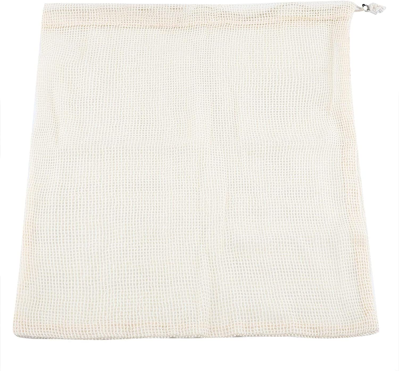 SANJIJIfeididna NEW before selling 5 Reusable Produce Bags D Cotton with Mesh Regular dealer