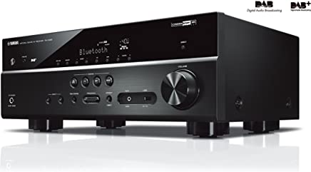 Yamaha D485Black Music Cast–5.1channel AV Receiver with Wi-Fi, Bluetooth and DAB Tuner–Black