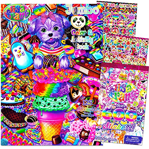 Lisa Frank Coloring and Activity Book with Over 600 Lisa Frank Stickers