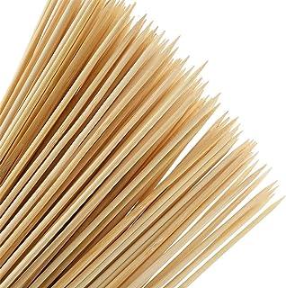 YOTINO 100Pcs Palos de Bambú Desechables Palillos de Madera sin Acabado Palos Redondos Madera Varillas Difusor para Manualidades, Fiesta de Barbacoa, Madera de Caña Difusor