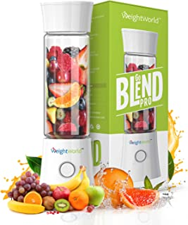 Mini Blender Mixeur Go Blend Pro – Portable, Design, Charge USB – 480ml – Blender Smoothie, Jus, Milk Shake, Soupe - Bouch...