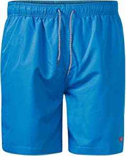 D555 Duke Mens Crosley Big Tall Water Activated Swimming Shorts - Shark/Blue