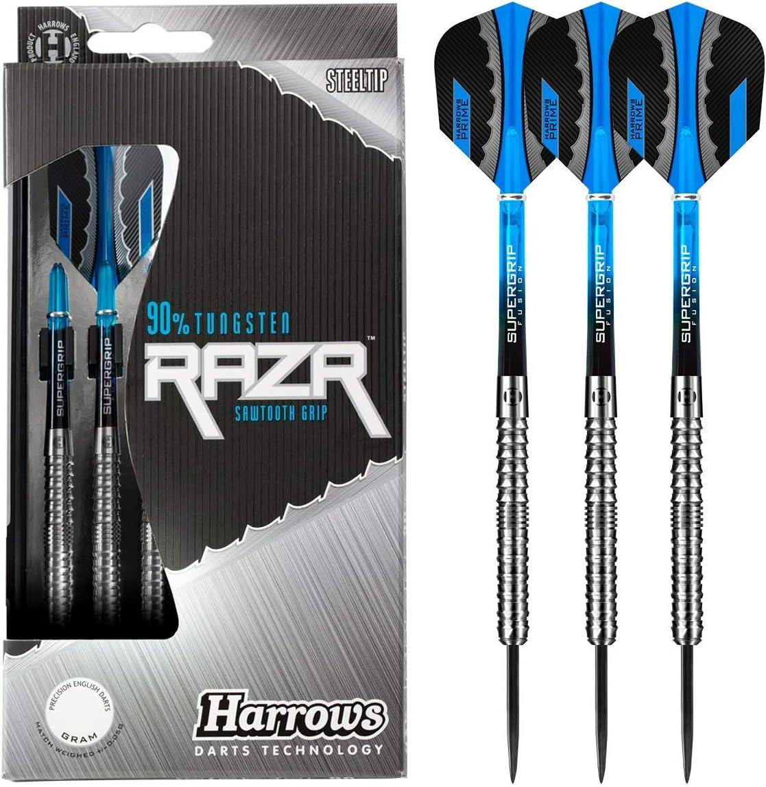 Harrows Regular store Lowest price challenge Razr Straight Sawtooth Grip Tungsten Steel Darts 90% Tip