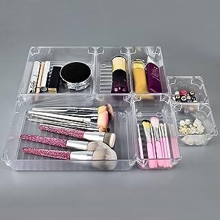 DARUITE Organisateur Tiroir, Rangement Maquillage Tiroir, Plastique Separateur organizer pour Bijoux, Bureau, Cuisine, Sal...
