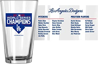 L.A. Dodgers World Series Champions 16 oz. ROSTER Pint Beer Glass