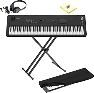 $1049 Get Yamaha MX88 Full-Size 88 Key Graded Hammer Standard Synthesizer Controller with 1000+ MOTIF XS Sounds, VCM FX Engine, Bundled Software with Keyboard Stand, Keyboard Cover, Headphone and Keyboard Cloth