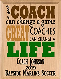Broad Bay Coach Gifts Personalized Great Coach's Appreciation Gift Team Thank You Plaque