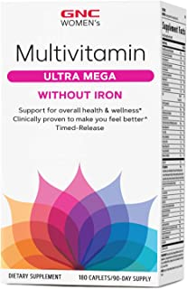 GNC Women's Multivitamin Ultra Mega Without Iron
