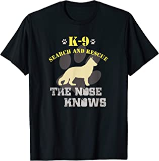 K9 Search & Rescue Team German Shepherd Dog GSD Tracking SAR T-Shirt