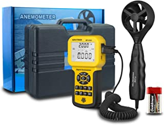 Digital Anemometer Handheld AP-846A CFM Pro Anemometer HVAC Wind Speed Meter with Backlight Max/Min/Avg Functions for Measuring Wind Speed Air Velocity CFM Air Flow Meter