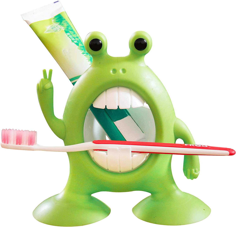 GOURIDA Cute Cartoon Frog Toothbrush Kids Overseas parallel import regular item for Bab Finally popular brand Toddler Holder