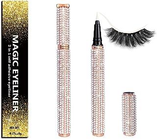 Self-adhesive Eyeliner Updated 2020 Version,2 in 1 Eye Liner Pen Diamond Bling Glitter Liquid Eyeliner No Glue, Non Magnet...