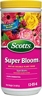 Scotts Super Bloom Water Soluble Plant Food, 2 lb - NPK 12-55-6 - Fertilizer for Outdoor Flowers, Fruiting Plants, Contain...