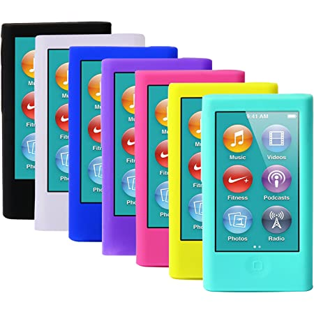 Amazon Com Coloryourlife 7pcs Soft Silicone Gel Skins Cases Covers For New Ipod Nano 8th 7th Generation With Screen Protector In Retail Packaging Mp3 Players Accessories
