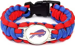 GProductsNet NFL Buffalo Bills Paracord Bracelet for Women & Men - Paracord Survival Strap Bracelet