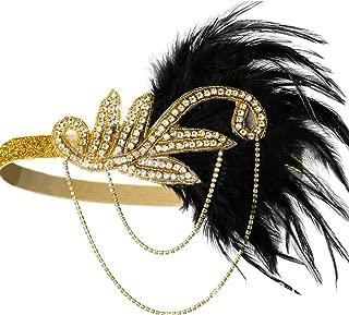 Famvos Carnival Feather Headpiece Showgirl Headband