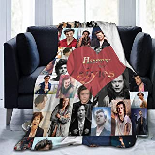 ANCHE Harry-Styles Blanket Flannel Throw Blanket Ultra Soft Micro Fleece Blankets Bed Couch Living Room 40 X 50 Inch