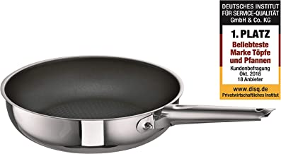 Schulte-Ufer Frying Pan Romana i XXStrong, High, Serving Pan, Stainless Steel 18/10, 24 cm, 6870-24 i