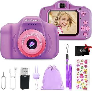 Appareil Photo Enfants, 2 Pouces HD 1080P Appareil Photo Numerique Jouet pour Enfant, Cadeau Jouet pour Fille Garçons, ave...