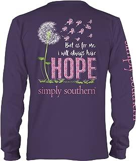 Simply Southern Preppy Longsleeve Concord Shirt Always Have Hope - Medium