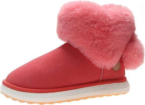 HRCxue schuhe de la Corte Stiefel Stiefel para la Nieve schuhe de damen Tubo Corto Femenino Tubo Corto cálido Salvaje más Terciopelo Estudiantes